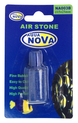 Aqua Nova Aquarium Air Stone Cylinder Blue 15x25mm
