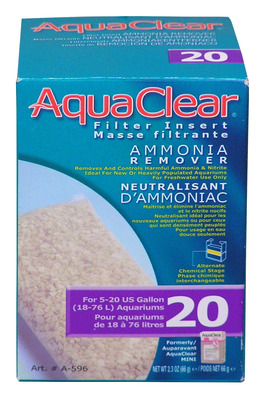 AquaClear 20 Ammonia Remover Hang On Filter Media
