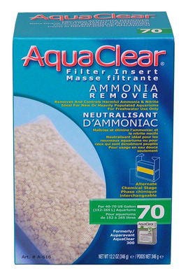 AquaClear 70 Ammonia Remover Hang On Filter Media