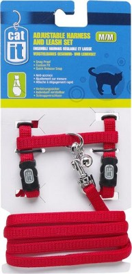 Catit Nylon Cat Adjustable Harness and Lead Large Red