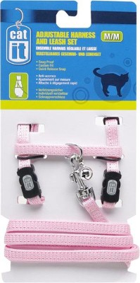 Catit Nylon Cat Adjustable Harness and Lead Small Pink