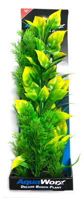 Deluxe Bunch Plant 16inch Bush/Yellow Tip Leaves