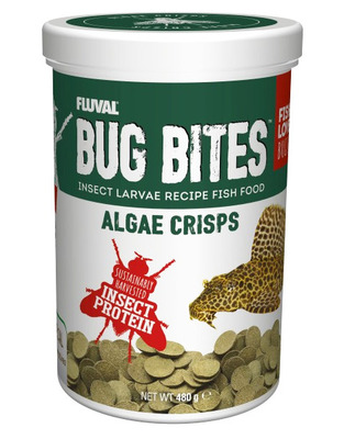 Fluval Bug Bites Crisps Algae Wafers 480g