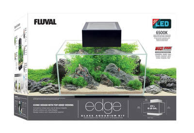 Fluval EDGE NEW 2.0 Aquarium 23L Black