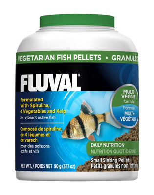 Fluval Vegetarian Small 1mm Sinking Pellets 90g