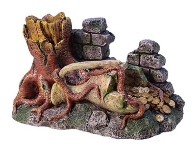 Middle Earth Tree Trunk and Rock Medium