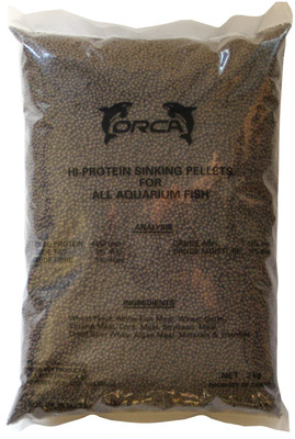 Orca Hi-Protein Sinking Pellet Fish Food 2kg Medium Pellet