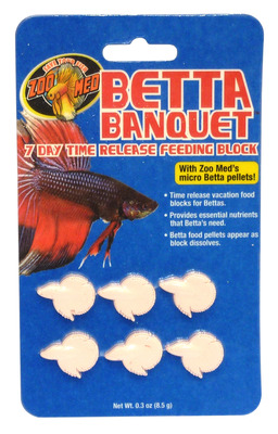 Zoo Med Betta Banquet Time Release Feeding Block (BB-7) 7 Day 8.5g