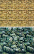 Aquarium Background Double Sided 90cm high - Nature Exotic Rock-Kultur Wall