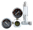 Dual Gauge CO2 Regulator Side mount with bubble counter (G5/8)