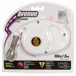 Avenue Retractable Cat Lead  Small White 3m