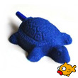 Blue Aquarium Air Stone Turtle 42x54mm