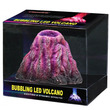 Bubbling LED Volcano Ornament Set Red