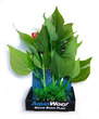 Deluxe Bunch Silk Plant 8inch Green Wide Leaves