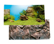 Juwel Aquarium Background Rock-Plant Scene Poster 1 Double Sided 150 x 60cm XL