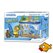Marina Surfin Theme Goldfish Aquarium Kit Blue 14 Litre