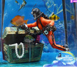 Sea Treasure Action Aquarium Ornament SCUBA Diver Treasure Hunter