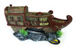 Shipwreck Fish Tank Ornament Old Vietnamese Style