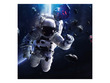 Spaceman Poster Background  for Aquarium Terrarium Vivarium