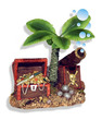 Exotic Environments Treasure Chest with Palm Tree