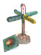 Water Works Crossroads Street Sign Aquarium Ornament