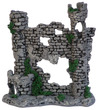 Water Works Half Ruin Fish Tank Ornament 20 x 7.5 x 20cm h