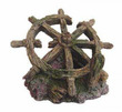 Old Ship Wheel Fish Tank Ornament 12.5 x 9.5 x 9.5cm h