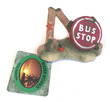 Water Works Street Sign Broken Bus Stop Aquarium Ornament